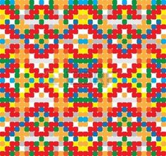 Seamless simple in the style of cross-stitch photo