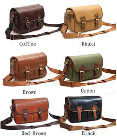 Large Camera Bags--PU Leather DSLR Camera Bags Christmas Gift Nikon Cannon Camera Bag --Padded Camera Insert One Body Three Lens