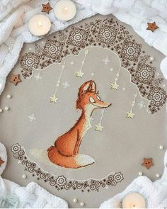 Good luck to all Raboia from … - embroidery Fox Embroidery, Embroidery Patterns, Cross Stitch Patterns, Fox Crafts, Diy And Crafts, Blackwork, Fantastic Mr Fox, Fox Illustration, Cartoon People