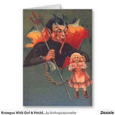 """Creepy Krampus: 30 Vintage Postcards of the """"Devil Santa Claus From Europe"""" That Will Haunt Your Dreams Vintage Holiday, Vintage Halloween, Vintage Cards, Vintage Postcards, Vintage Photos, Anti Santa, Saint Nicholas, Holiday Pictures, Devil"""
