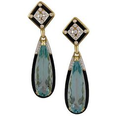 Aquamarine Art Deco Earrings