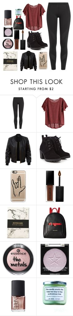 """""""and i've grown familiar with the villians that live in my head"""" by hemmingsbxtch ❤ liked on Polyvore featuring adidas, H&M, LE3NO, Red Herring, Casetify, Smashbox, Love Moschino, NARS Cosmetics and Jac Vanek"""