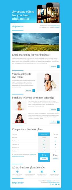 Blue Email Template