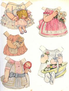 Dolly Dingle outfits 20 * 1500 paper dolls at International Paper Doll Society by artist Arielle Gabriel ArtrA QuanYin5 Linked In QuanYin5 Twitter *