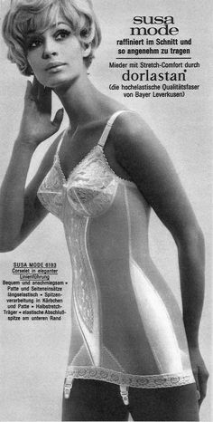 A young model in a garment she probably wouldn't have been seen dead in. Full Figure Dress, Vintage Girdle, Retro Lingerie, Susa, Full Figured Women, Young Models, Elegant, Women Wear, Vintage Fashion