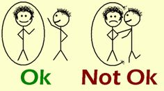 As you can see in this illustration, it is not ok to breach another person's personal bubble.