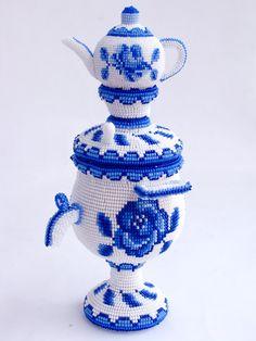 Самовар - сувенир | biser.info - всё о бисере и бисерном творчестве
