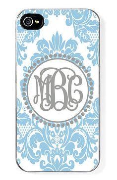 Blue Damask Monogram Case for iPhone 5