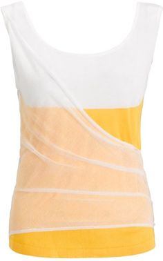 Chalayan Yellow Lemon Mesh Knit Tank