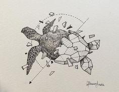 Эскиз геометрической черепахи