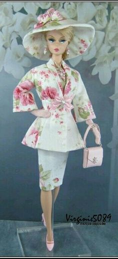 """""""Suited in Pink and White"""" for Silkstone Barbie by Virginie 5089"""