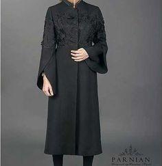 مدل مانتو مجلسی ,مانتو مشکی مجلسی Abaya Fashion, Women's Fashion Dresses, Skirt Fashion, Long Winter Dresses, Iranian Women Fashion, Embroidered Clothes, Traditional Fashion, Trendy Dresses, Classy Outfits