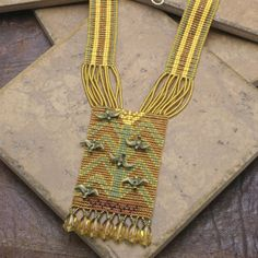 NECKLACE Ethnic Tribal Woven Seed Bead Tree of Life by TealEves
