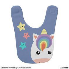 Unicorn & Stars Bib