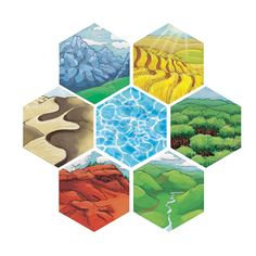 Alternate Catan Hexes by Avangion.deviantart.com on @deviantART