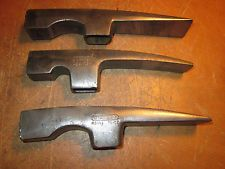 Lot of 3 Vintage Blacksmith Stone Mason Hammer Heads STANLEY PLUMB FREE SHIP