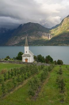 Church in Lustrafjorden, Norway