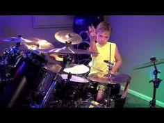 """Neon Lights"" Avery Molek, 7 year old Drummer - YouTube"