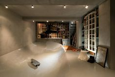 The 'Skate Park House' by Level Architects has one special feature; there is a skateboard park and a piano rehearsal room in the cellar. Interior Exterior, Interior Architecture, Interior Design, Diy Interior, Skateboard Room, Rehearsal Room, Hobby House, Architect House, Park Homes