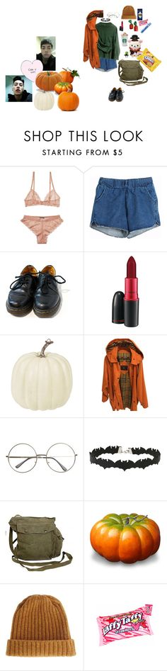 """pumpkin picking with A-Tom"" by that-goth-transguy ❤ liked on Polyvore featuring Scotch & Soda, Dr. Martens, MAC Cosmetics, Burberry, Miss Selfridge, GAS Jeans and ASOS"
