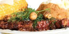 Slow Cooker Layered, Steak, Potato and Corn on the Cob - YUM… ALL IN ONE MEAL!  www.GetCrocked.com