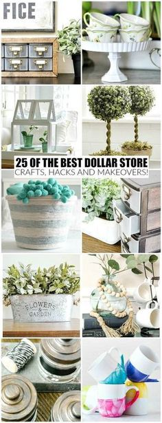 The BEST dollar store crafts, hacks and DIY projects to organize and decorate your home for less! #dollartree #dollarstore #storage #organize #dollarstorecrafts