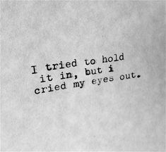 crying yourself to sleep quotes - Google Search