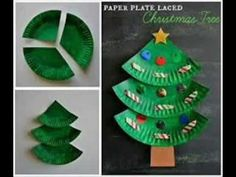Christmas Craft - Paper Plate Christmas Tree - Paper Plate Craft - YouTube