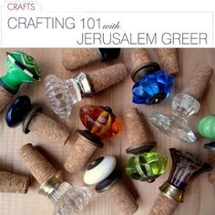 DIY wine cork bottle stoppers-- how easy would this be! why have i NEVER thought of this??!