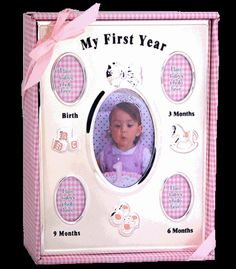 Angel Giftwares My First Year Collage, Pink – Sweet Thing Baby & Childrens Wear #Kids #Gift #Stuff sweetthing.com.au