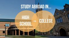 Comparing study abroad in high school vs college? Trying to figure out if you should study abroad in college or high school? Go Overseas helps you compare.