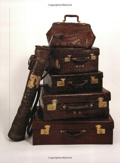 imagine going on a train or some sort of expedition with all this lovely luggage ~ even one for the golf clubs! Vintage Suitcases, Vintage Luggage, Vintage Purses, Vintage Handbags, Vintage Travel, Old Luggage, Luxury Luggage, British West Indies, Vintage Trunks