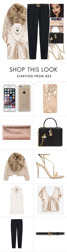 """""""*"""" by abigail-petion ❤ liked on Polyvore featuring Speck, Liebeskind, Dolce&Gabbana, Gianvito Rossi, Bobeau, Thakoon and Gucci"""