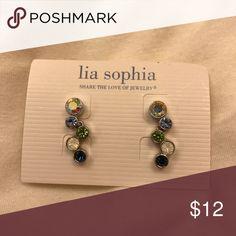 Lia Sophia Happy Hour Earrings Post earrings. Like new. Lia Sophia Jewelry Earrings