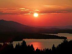 Sunset Over Moosehead Lake, Maine