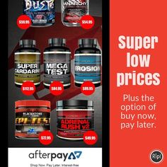 How good are these prices-they are flying off the shelves. And you can buy now pay later with 4 forthrightly payments. Note- Super Cardarine back in stock shortly. It sells so quick. #preworkout #fitfam #fitspo #fitness #fitnesslife #motivation #girlsthatlift #inba #compprep #supplements #treadmill #nutrition #workout #shredded #getfit #weights #muscle #bodybuilding #fitspiration #cardio #ripped #gym #crossfit #training #exercise #weightraining #cutting #stack #sculpting