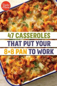 47 Casseroles That Put Your Pan to Work is part of Casserole recipes If you& craving a hearty and satisfying meal but don& want to be stuck a bunch of leftovers, then these casserole reci - Dinner Casserole Recipes, Casserole Dishes, Hotdish Recipes, Casserole Ideas, Healthy Casserole Recipes, Sunday Dinner Recipes, Healthy Recipes, One Pot Meals, Main Meals