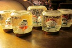 Six in the Suburbs: Home-made Snow Globes