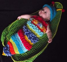 Original design Baby boy caterpillar cocoon and hat SET by May22, $66.00