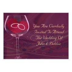 Rings In Wedding Glass Set Card