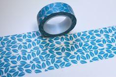 Tape BLÄTTER blau mint türkis von washitapes auf DaWanda.com