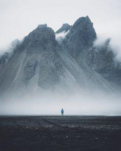 río nublado montaña impresión digital Paisaje mantel