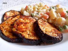Pikantní lilek v marinádě Baked Potato, Potatoes, Meat, Baking, Healthy, Ethnic Recipes, Food, Potato, Bakken