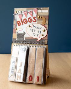 I am definitely making this Perpetual calendar made with My Creations Display Album and Scholastic papers #CTMH
