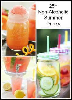 25+ Non- Alcoholic Summer Drinks via NoBiggie.net #recipe