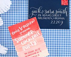Summer Cocktail Series: A Backyard Cocktail Party with St-Germain by Oh So Beautiful Paper, Invitations by Rocket Ink, Calligraphy by Meant to Be Calligraphy Aloha Party, Bbq Party, Invitation Paper, Invitation Design, Party Invitations, Invitation Ideas, Happy Birthday, Envelope Design, Backyard Bbq