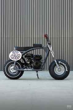 Cheap thrills: Racing custom Coleman mini bikes with Icon Mini Motorbike, Motorcycle Style, Motorcycle Garage, Custom Motorcycles, Custom Bikes, Best Electric Bikes, Moto Bike, Riding Gear, Bike Design