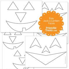 Easy Printable Jack o Lantern Faces from PrintableTreats.com