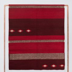 Handwoven in Mexicoby The Women of Oaxaca Modern design meets ancient Zapotec culture. This rug is a thing of beauty. Its bold star patterns and ruby red hue