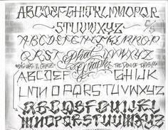 Chicano Style Script | Chicano Tattoo Lettering Alphabet